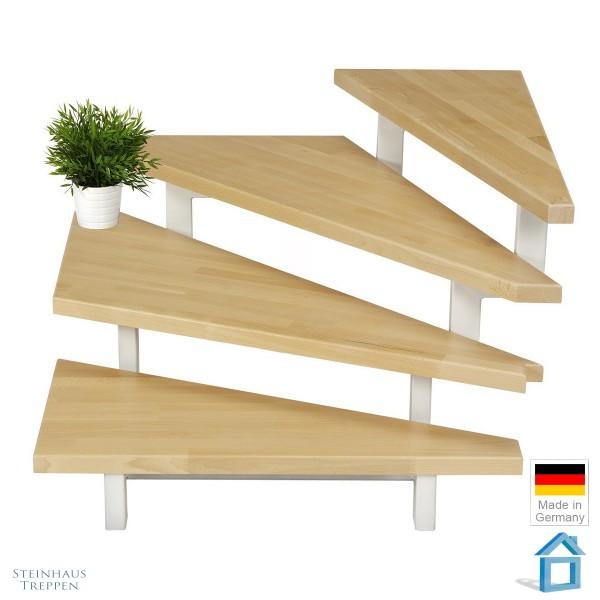 Treppenstufe Buche (massiv keilgezinkt)