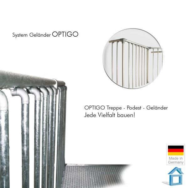 Geländer Bausatz Balkon & Terrasse 100 cm Segmente