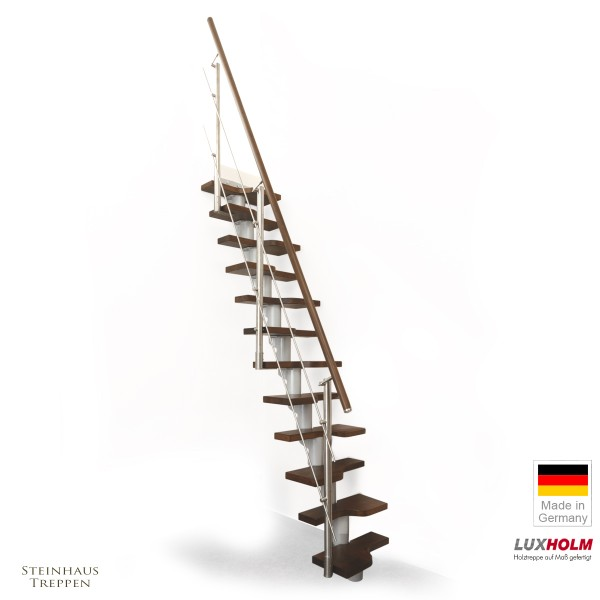 Mittelholm Treppe gerade, Raumspartreppe 65 cm