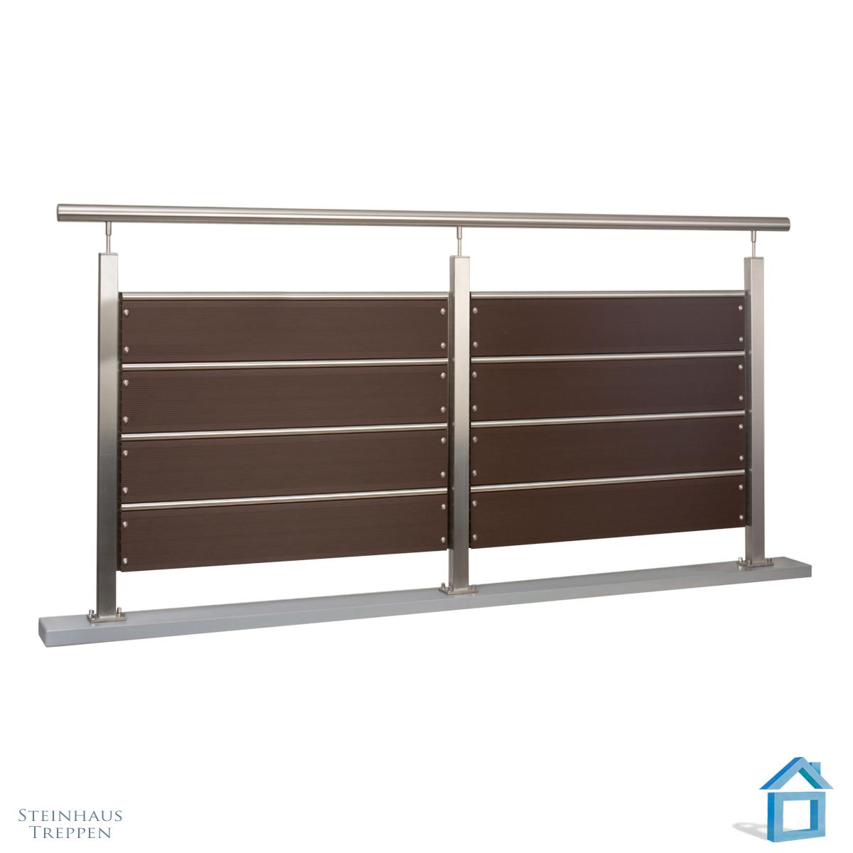 holzoptik gel nder am balkon blickdicht mit wpc steinhaus treppen treppen g nstig kaufen. Black Bedroom Furniture Sets. Home Design Ideas