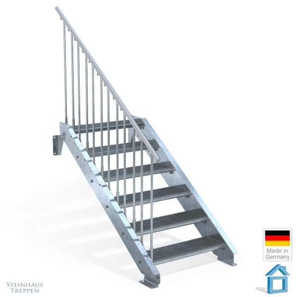 Stahltreppe 6 Stufen