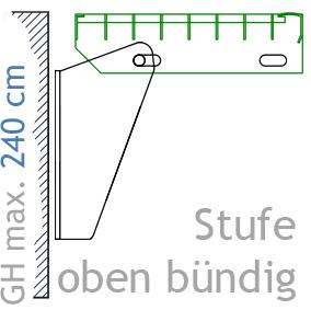 stahltreppe mit 12 stufen mit gitter belag 100 cm breite treppe f r h he max 260 cm steinhaus. Black Bedroom Furniture Sets. Home Design Ideas