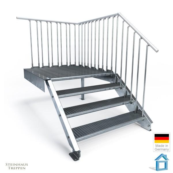 Podesttreppe 4 Stufen mit Geländer