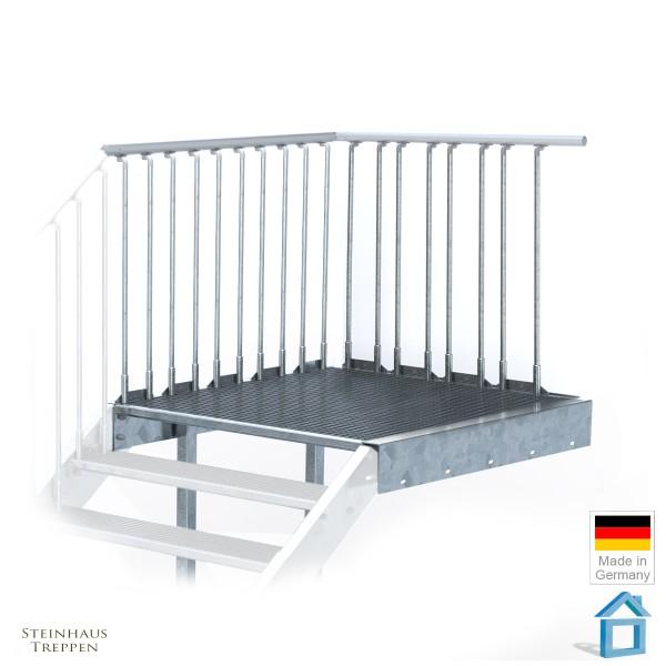 Podest für Bausatztreppe 100 cm Breite
