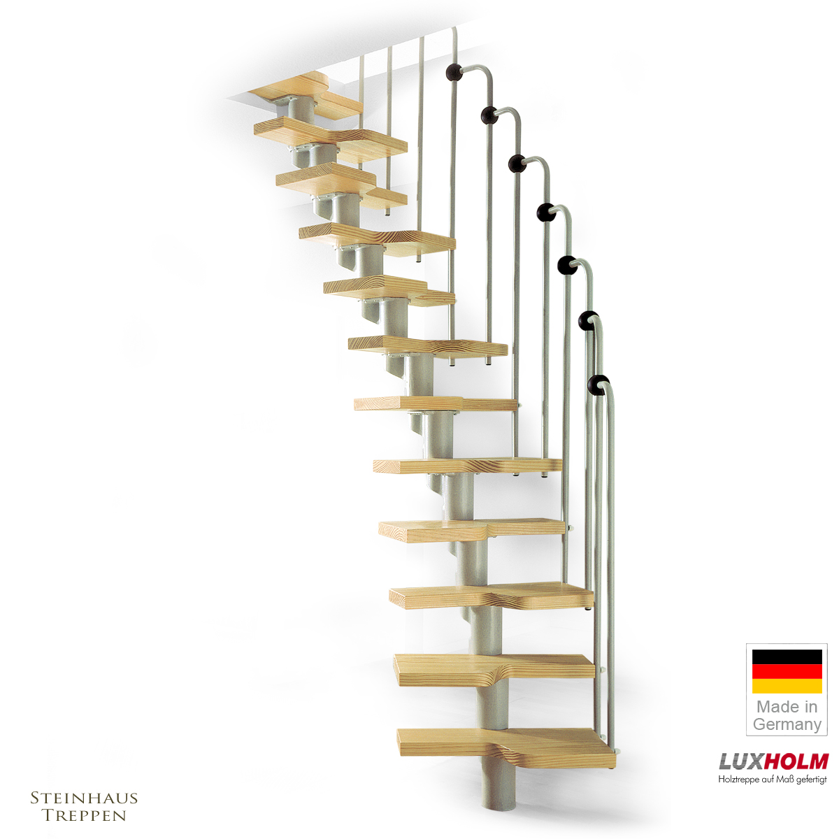 mittelholmtreppe wechselseitig begehbar geschweifte stufen steinhaus treppen treppen. Black Bedroom Furniture Sets. Home Design Ideas