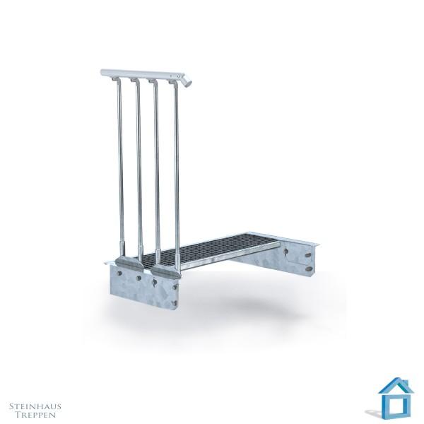 Podeststufe zur Stahltreppe