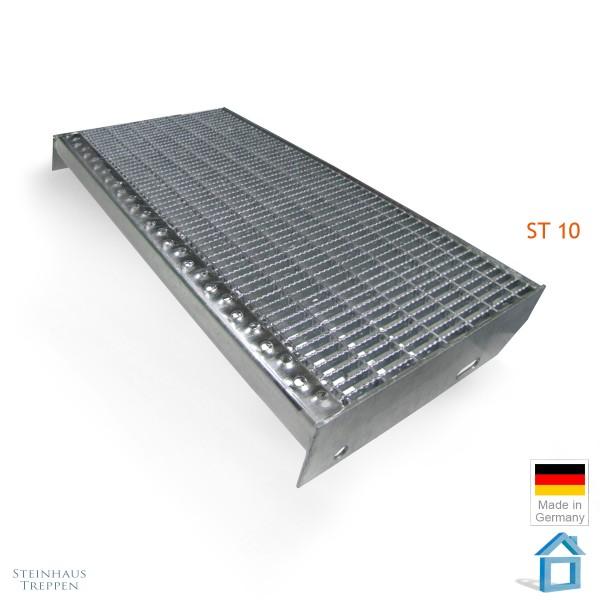 Eingangsstufe 27 x 120 cm , DIN Stahlgitter ST10 Gleitschutz