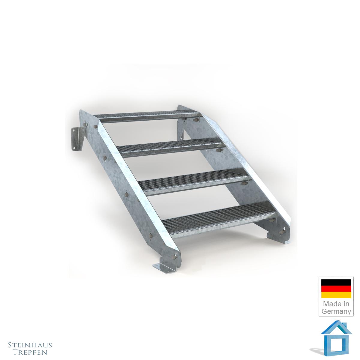 stahl au entreppe 4 stufen 80 cm laufweite steinhaus treppen treppen g nstig kaufen. Black Bedroom Furniture Sets. Home Design Ideas