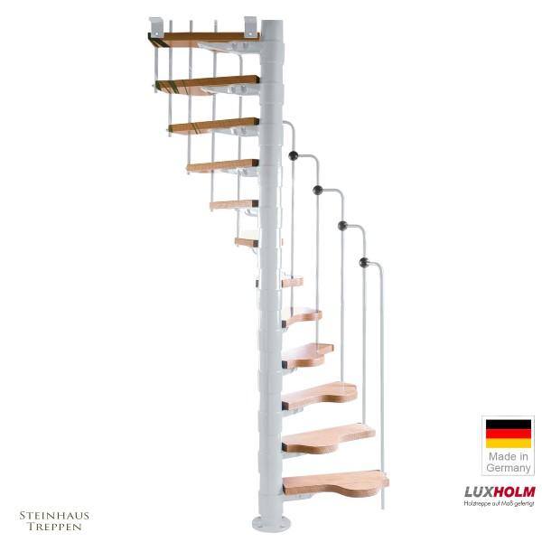 Wendeltreppe Rondo Step Weiß 120 cm
