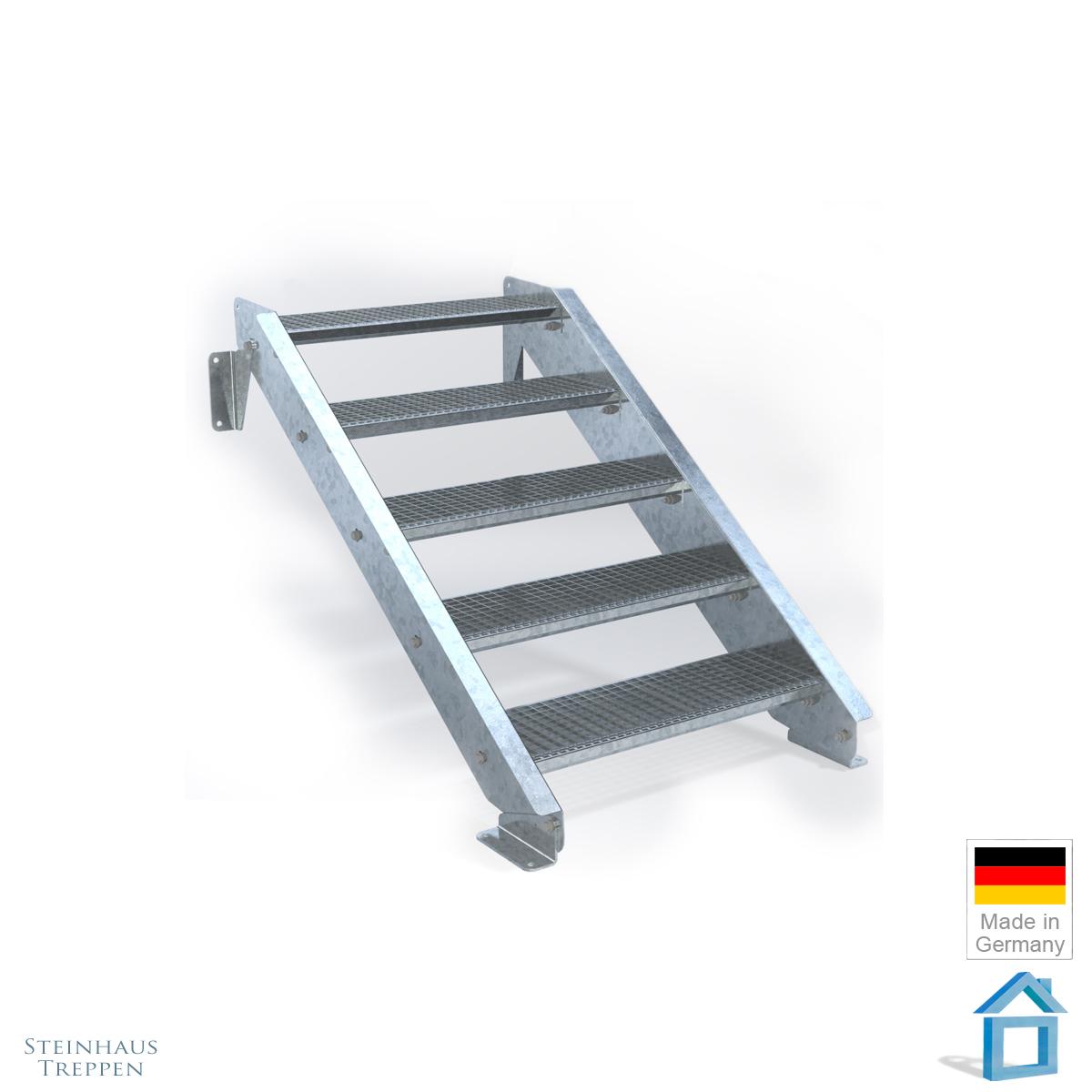 au entreppe stahl verzinkt mit stahl auflagen 80 cm breite bis h he 120 cm. Black Bedroom Furniture Sets. Home Design Ideas
