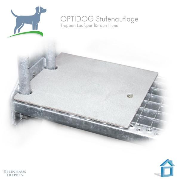 Stufenabdeckung für Haustiere an Stahltreppen