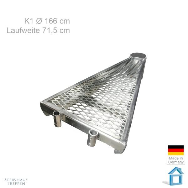 Einzelstufe Erweiterung 160cm Wendeltreppe