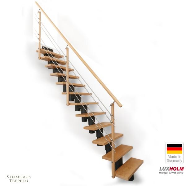 """Mittelholm Treppe """"Olymp"""" 65 bis 75 cm Stufenweite"""