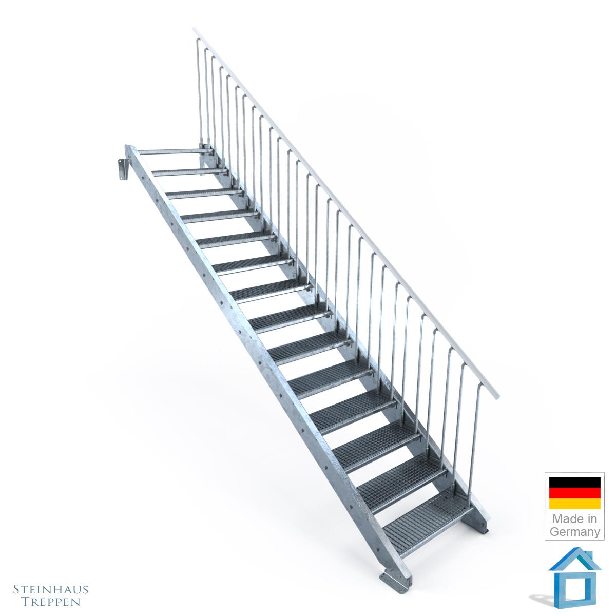 au entreppe stahl mit 14 stahlstufen f r h hen bis 330 cm steinhaus treppen treppen g nstig. Black Bedroom Furniture Sets. Home Design Ideas