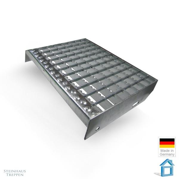 Treppenstufe Stahl 27 cm Tiefe ST2, Sicherheitsprofil gezackt
