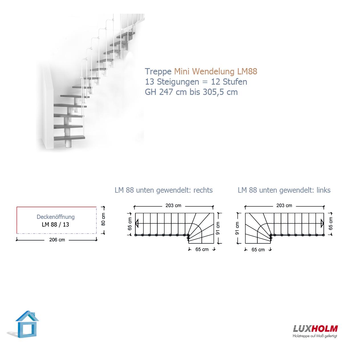 mittelholmtreppe mit buche holzstufen in breiten 60 70 80 und 90 cm f r h hen bis 299 cm. Black Bedroom Furniture Sets. Home Design Ideas