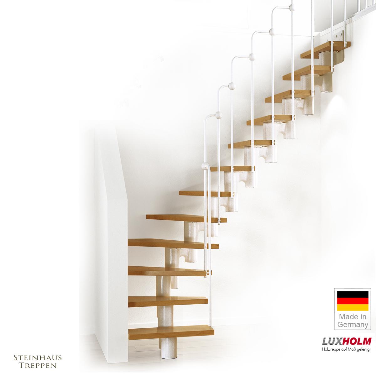 halbgewendelte mittelholmtreppen in beiten 60 und 90 cm mit holzstufen. Black Bedroom Furniture Sets. Home Design Ideas