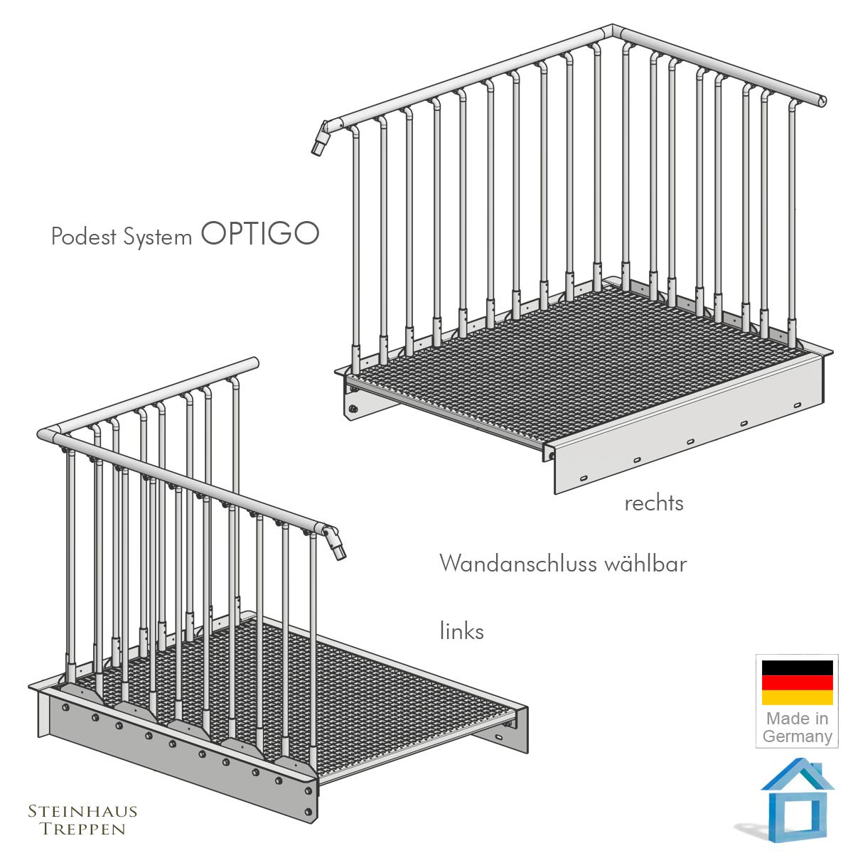 au entreppe stahl mit 9 gitterrost stufen in 120 treppenbreite. Black Bedroom Furniture Sets. Home Design Ideas