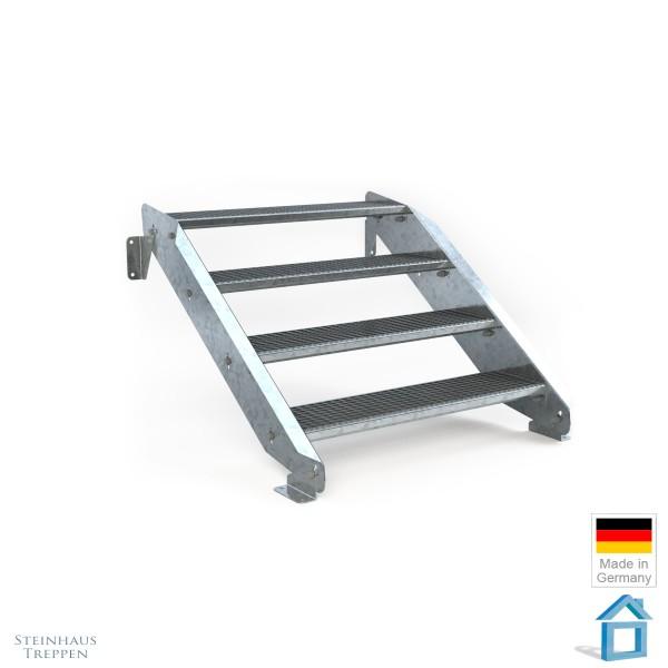 Treppe Stahl 4 Stufen 100 cm Breite