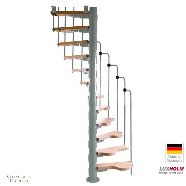Wendeltreppe Rondo Step Silber 120 cm