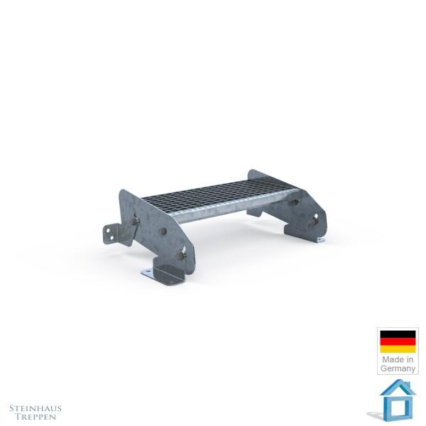 Bausatz Stahlstufe Antritt DIN Stahlgitter 27 cm Tiefe