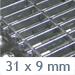 stahlmasche 31 x 9 mm ST3