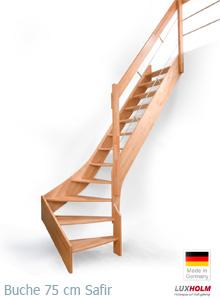Turbo Massivholztreppen gewendelt Bausatz auf Maß bestellt | Steinhaus HB41