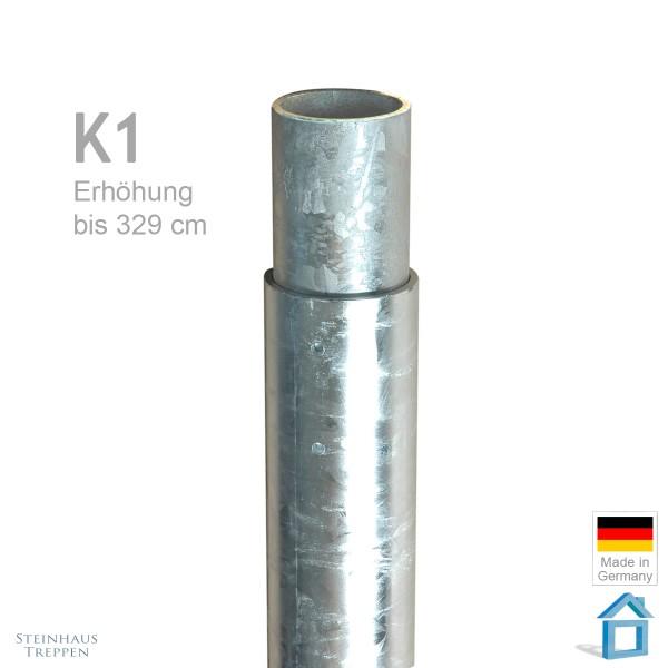 Standrohr Aufsatz 330 cm K1 Spindeltreppe