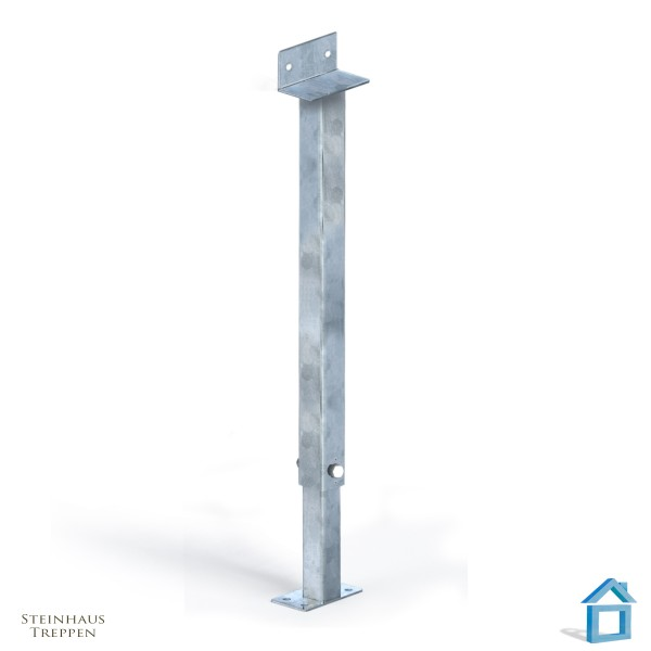 Bodenstütze Stahl Vierkant