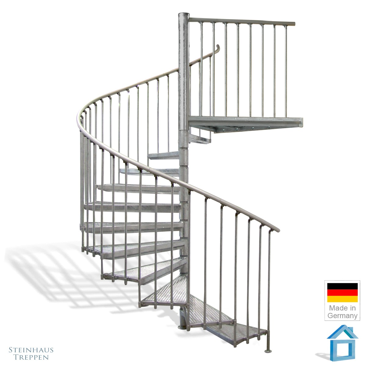 Relativ Außentreppen Stahl im Durchmesser 222 cm bis max. 440 cm Höhe MA63